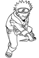 Coloriage Naruto Uzumaki en Ligne Gratuit à imprimer