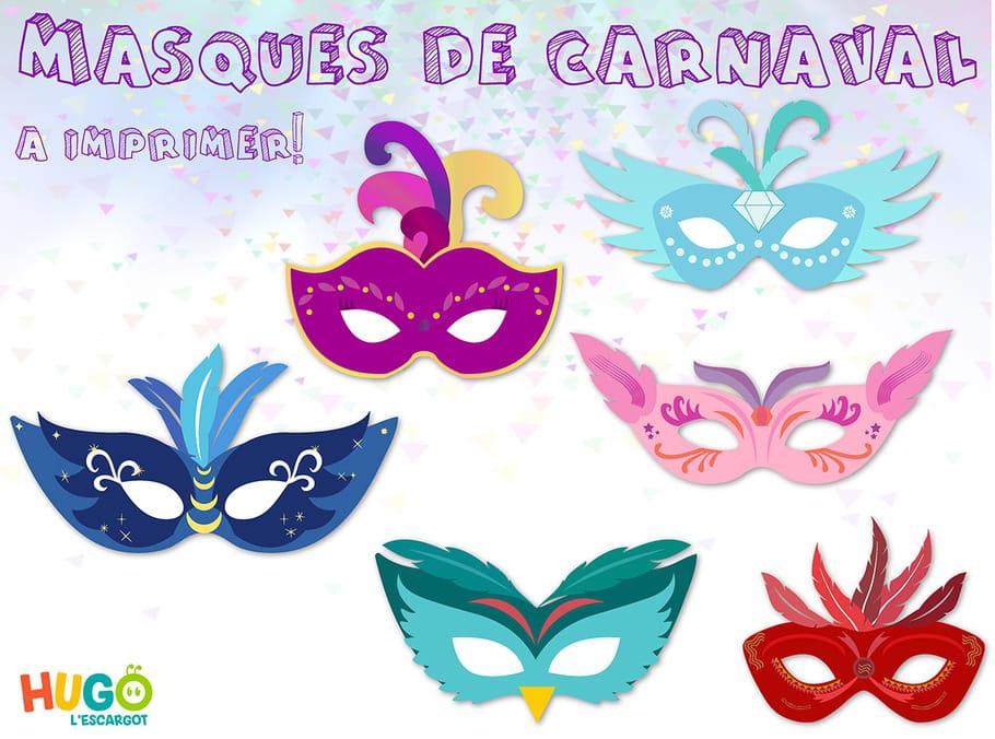 Kit masques de carnaval imprimer - Masque de carnaval a imprimer ...
