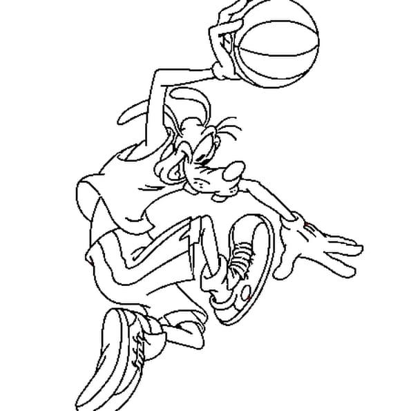Coloriage basketball en ligne gratuit imprimer - Dessin basketball ...